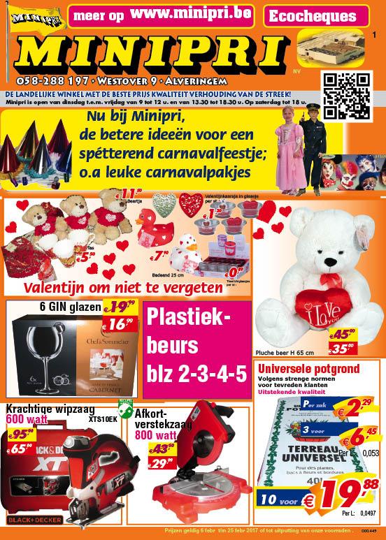 Karnaval en valentijn bij Minipri